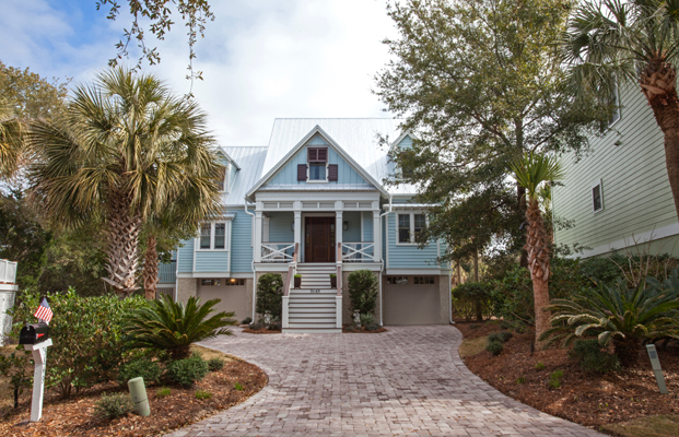 Hardi siding on a beachfront home in Wild Dunes, SC.