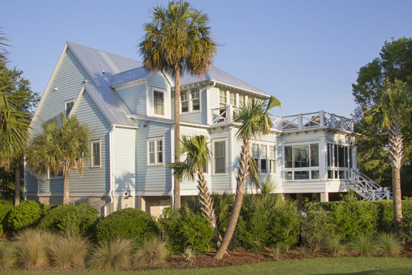 Galvalume Roof on a Sea Island Builder Home in South Carolina